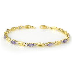 2.50 CTW Tanzanite Bracelet 10K Yellow Gold - REF-45N5Y - 11783