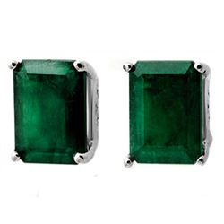 2.60 CTW Emerald Earrings 18K White Gold - REF-31K3W - 11913
