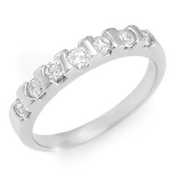 0.65 CTW Certified VS/SI Diamond Ring 14K White Gold - REF-57T8M - 11435