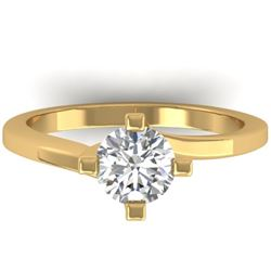 1 CTW Certified VS/SI Diamond Solitaire Ring 14K Yellow Gold - REF-278T3M - 30398