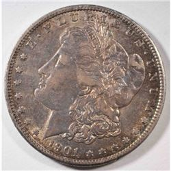 1901-S MORGAN DOLLAR, CH AU ORIGINAL