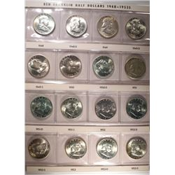 1948 THRU 1963 CH BU FRANKLIN HALF DOLLAR SET