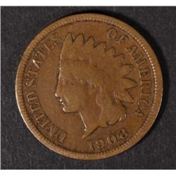 1908-S INDIAN HEAD CENT KEY  VG/F