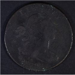 1798 DRAPED BUST LARGE CENT  VG/F