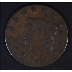 1821 LARGE CENT KEY DATE  G/VG