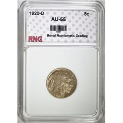 1920-D BUFFALO NICKEL RNG AU BU