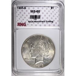1935-S PEACE DOLLAR RNG GEM BU