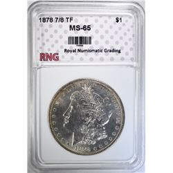 1878 7/8 TF MORGAN DOLLAR RNG GEM BU