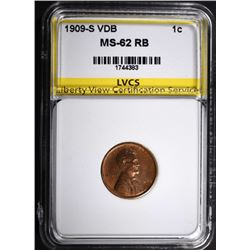 1909-S VDB LINCOLN CENT LVCS CHBU RB