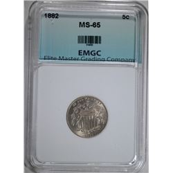 1882 LIBERTY NICKEL, EMGC GEM BU