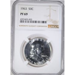 1963 FRANKLIN HALF DOLLAR, NGC PF-69!!!