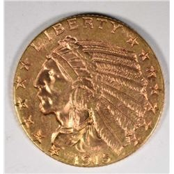 1915 $5 GOLD INDIAN  CH BU+