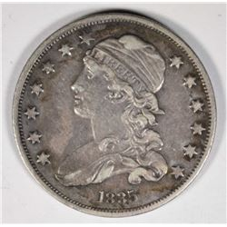 1835 CAPPED BUST QUARTER  AU