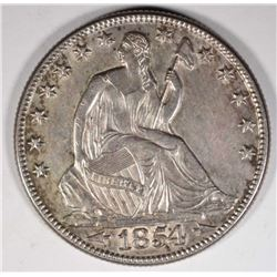 1854-O ARROWS SEATED LIBERTY  HALF DOLLAR