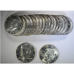 MIXED DATE ROLL OF 40% SILVER KENNEDY HALVES