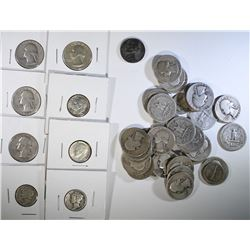 SILVER COLLECTORS LOT: 32 - SILVER QTRS