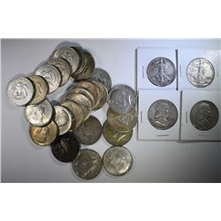 SILVER HALF DOLLAR LOT; 3 - WALKERS