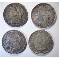 MORGAN DOLLAR LOT; 1886 VG, 1887 AU,
