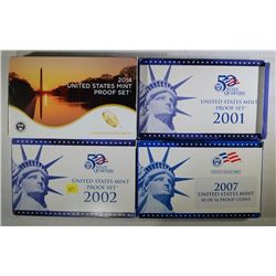 2001, 2002, 2007, 2014 U.S. PROOF SETS