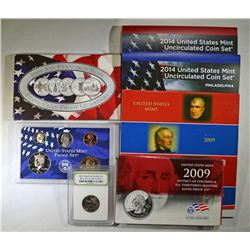 U.S. COIN LOT; 2009 SILVER QTR SET,