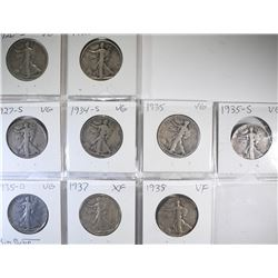 WALKING LIBERTY HALF DOLLAR LOT;