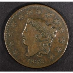 1832 LARGE CENT, VF