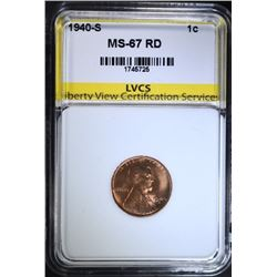 1940-S LINCOLN CENT, LVCS SUPERB GEM BU
