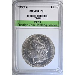 1894-S MORGAN DOLLAR PCSS CHOICE BU PL