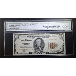 1929 $100. NATIONAL CURRENCY