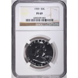 1959 FRANKLIN HALF DOLLAR NGC PF69