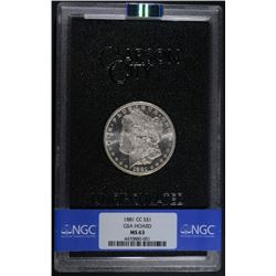 1881-CC MORGAN DOLLAR GSA/NGC MS63