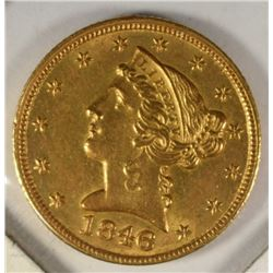 1846-C $5 GOLD LIBERTY CHOICE BU