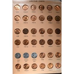 1934-58 GEM BU RED LINCOLN CENT SET IN ALBUM