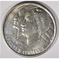 1936 ARKANSAS COMMEM HALF DOLLAR, GEM BU