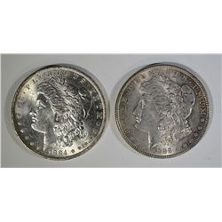 1884-O & 1888 MORGAN SILVER DOLLARS CHOICE BU+