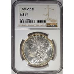 1904-O MORGAN DOLLAR, NGC MS-64