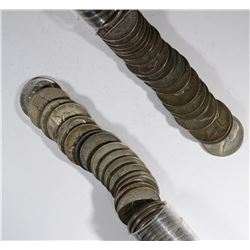 2-ROLLS CIRC JEFFERSON SILVER WAR NICKELS