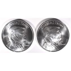 2 - DONALD J TRUMP/WHITEHOUSE .999 SILVER ROUNDS