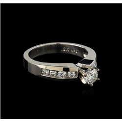 0.77 ctw Diamond Ring - 18KT White Gold
