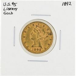 1892 $5 Liberty Head Half Eagle Gold Coin