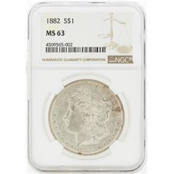 1882 MS63 NGC Morgan Silver Dollar