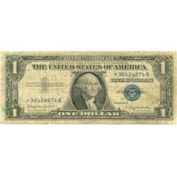 $1 VG+ Star Note Silver Certificate