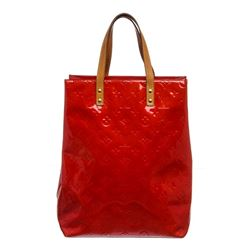 Louis Vuitton Red Vernis Leather Reade MM Bag