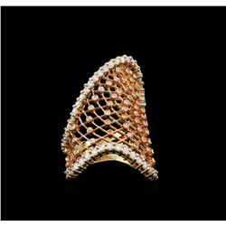 14KT Two-Tone Gold 1.63 ctw Diamond Ring
