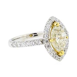 2.22 ctw Diamond Ring - 14KT White And Yellow Gold