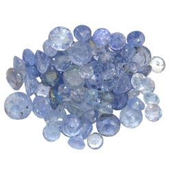 13.26 ctw Round Mixed Tanzanite Parcel
