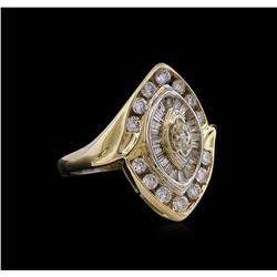 1.15 ctw Diamond Ring - 14KT Yellow Gold