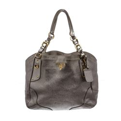 Prada Silver Metallic Vitello Daino Hobo Bag