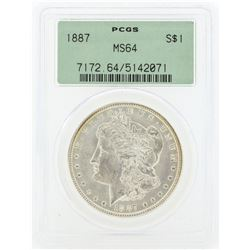 1887 MS64 NGC Morgan Silver Dollar