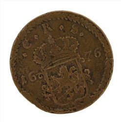 1676 Sweden Large Copper Coin